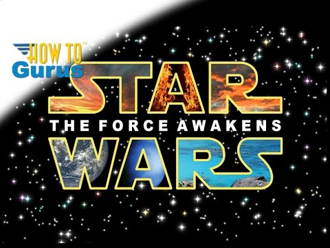 For Star Wars Fans, how to do Star Wars Text in Photoshop Elements 2018 15 14 13 12 11 Tutorial