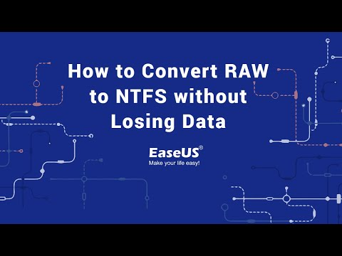 Convert RAW File System to NTFS