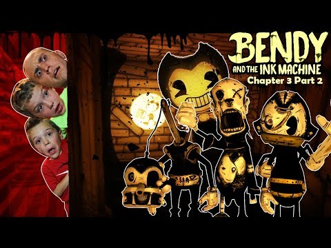 What Happened to Boris!?!?! Bendy and the Ink Machine Chapter 3 Part 2 Twin Toys Kids Jumpscare