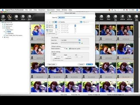 Canon Digital Photo Professional Tutorial - File saving options (16/19)