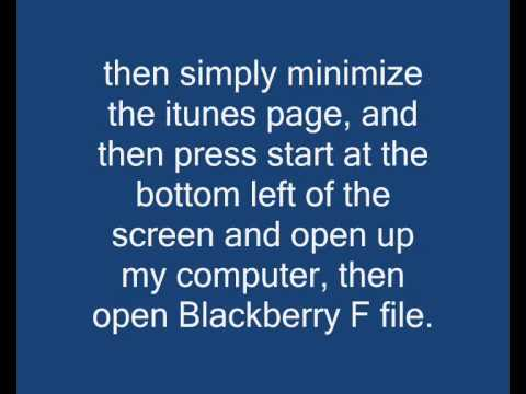 how to get songs from itunes on to your blackberry