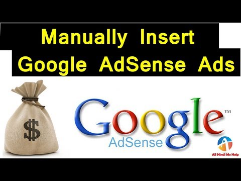 How To Manually Insert Google AdSense Ads in Blogger 2018
