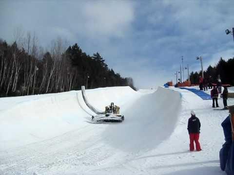 Canada Winter Games 2011 Martock Half Pipe Snow Machine