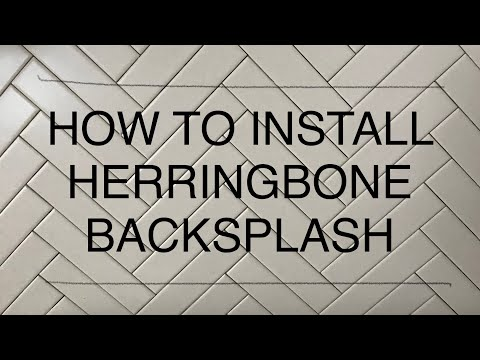 HOW TO INSTALL HERRINGBONE TILE BACKSPLASH QUICK & EASY - HERRINGBONE KITCHEN BACKSPLASH