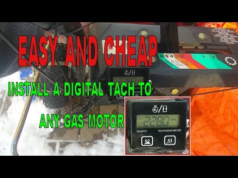 INSTALLING A DIGITAL LCD TACHOMETER - CHEAP & EASY GOOD FOR ANY GAS MOTOR