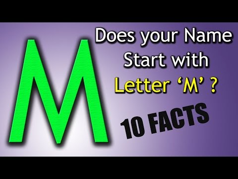 10 Facts about the People whose name starts with Letter 'M' | Personality Traits