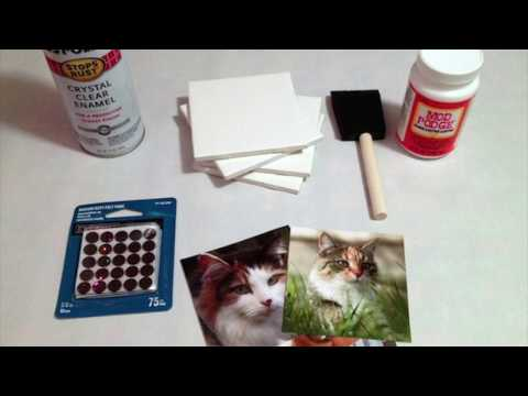 DIY Tile Coaster Tutorial | How To Make Photo Coasters From Tiles | Gift Idea