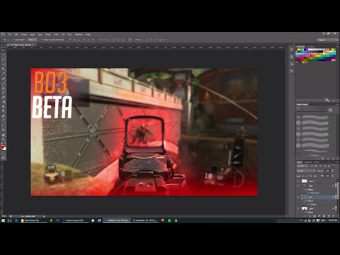 HOW TO MAKE A GLOW THUMBNAIL FOR A GAMING VIDEO PHOTOSHOP CS6 TUTORIAL