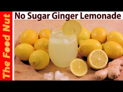 Ginger Lemonade Recipe With Fresh Lemon Juice - How To Make Sugar Free Lemonade | The Food Nut