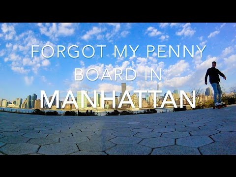 Forgot my Penny Board in Manhattan