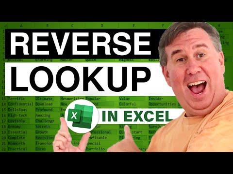 MrExcel's Learn Excel #1000 - Dueling: Reverse Lookup