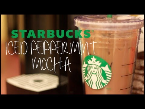 Making a Starbucks Iced Peppermint Mocha!