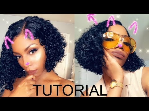 SUMMER WET LOOK CURLY BOB HAIR CUT/STYLE - JERRY CURLY KLAIYI HAIR  TUTORIAL
