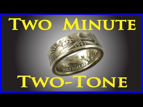 2 Minute Antique Patina How to oxidize silver jewelry Coin ring tools DIY