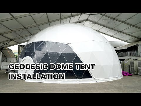 Liri Tent Geodesic Dome Tent Installation Video of Half Sphere Tent