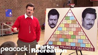 Swanson Pyramid of Greatness - Parks and Recreation