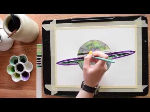 Paint a Planet in Watercolor~ Beginner's  tutorial