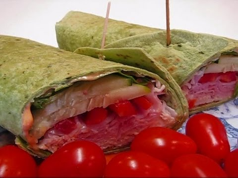 Betty's Ham and Turkey Spinach Wraps