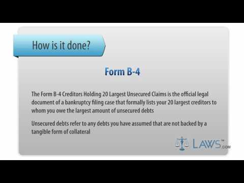 Learn How to Fill the Form B-4 List of Creditors Holding