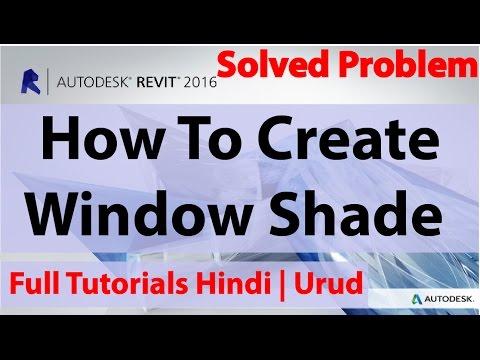 How To Create Windows Shade In Autodesk Revit | Hindi | Urdu |