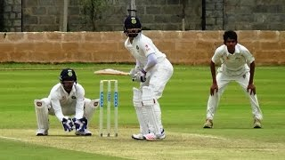 Rahane and Pujara shine in practice match at Alur