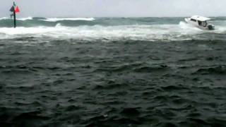 Crazy Boater heads out of the Hillsborough inlet
