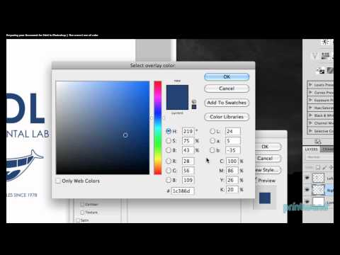 How to check PMS vs CMYK colors in Photoshop - Printing Tutorial 2/7