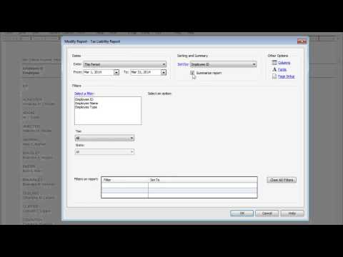 Viewing Payroll Reports in Sage 50