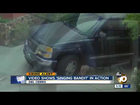 'singing bandit' targets package on porch