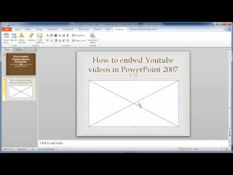 How to embed youtube videos in PowerPoint 2007 and 2010
