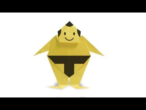 Origami sumo wrestler ! is simple