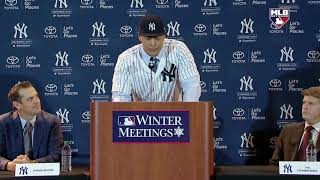 Giancarlo Stanton excited to be a Yankee [Introductory news conference] | ESPN