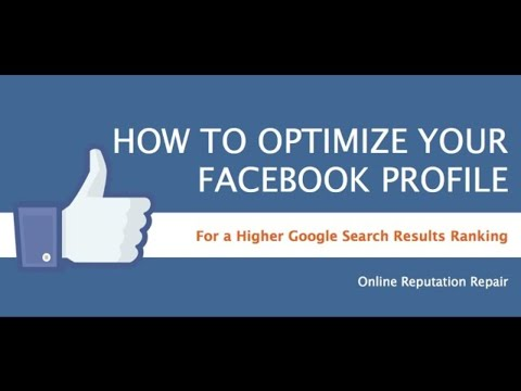 How to make your Facebook Profile Rank Higher in Google | Facebook SEO