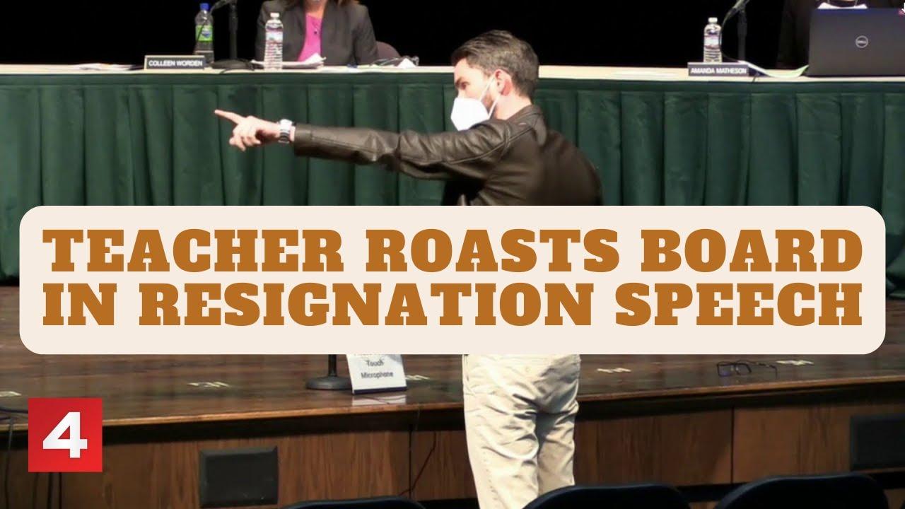 Grosse Pointe teacher roasts board of education in intense resignation speech