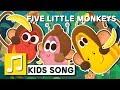 Nursery Rhyme FIVE LITTLE MONKEYS English Larva KIDS Song