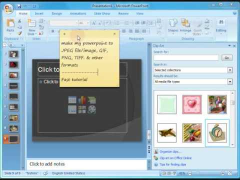 How to: Powerpoint slides to JPEG (GIF, PNG, TIFF)
