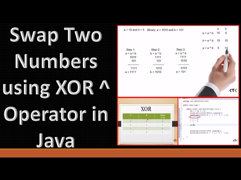 How to Swap Two Numbers using XOR Operator in Java.
