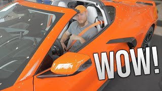 STUNNING First Look of 2020 Corvette C8! Sebring Orange, 3LT, Z51 Package!