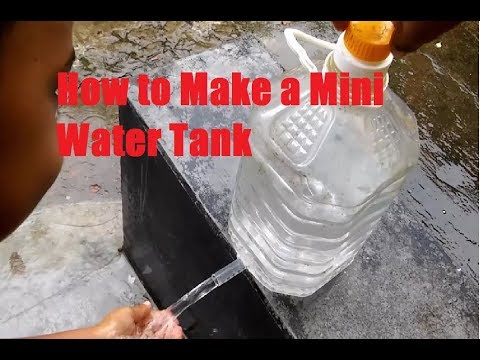 How to Make a Mini Water Tank - Reuse Plastic Bottles for Hand Wash