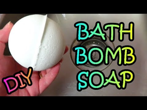 DIY HOW TO MAKE SOAP FILLED BATH BOMBS TUTORIAL