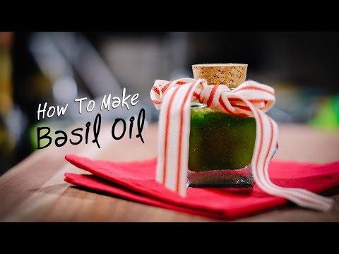 How to make Basil Oil - Easy Homemade Gift Idea