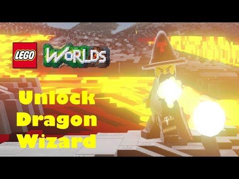 Lego World - How to unlock Dragon Wizard
