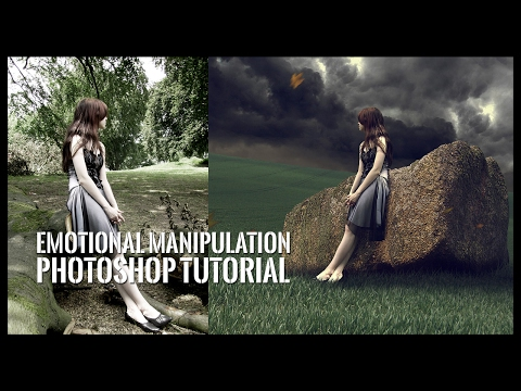 Photoshop Compositing - Emotional Manipulation Tutorial - Sad Girl