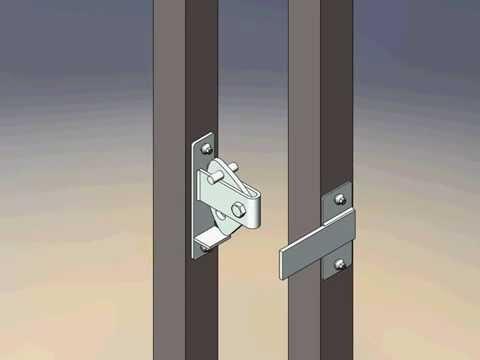 Tek Gate & Fence Gate latch straight animation