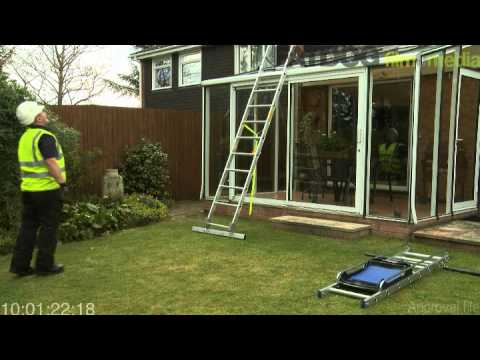 Which ladders should I use for conservatory repair and cleaning?