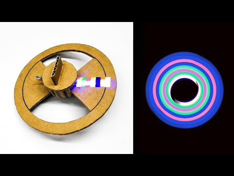 Wow! Amazing DIY Cardboard Spinner With LED Light