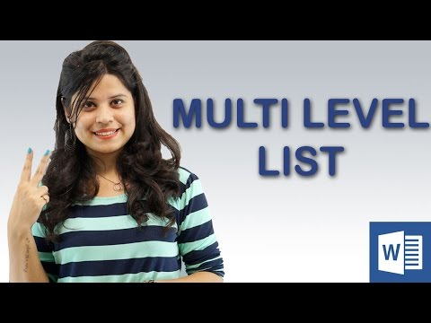 How to create a Multi-Level List in MS Word || Chapter 7 | Video 4