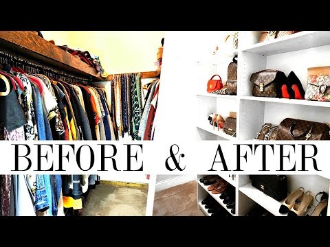 HOW TO MAKEOVER YOUR CLOSET | Handbag, Shoe & Clothing Organization | Shea Whitney