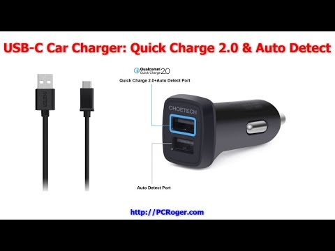 USB-C Car Charger Quick Charge Auto Detect CheoTech