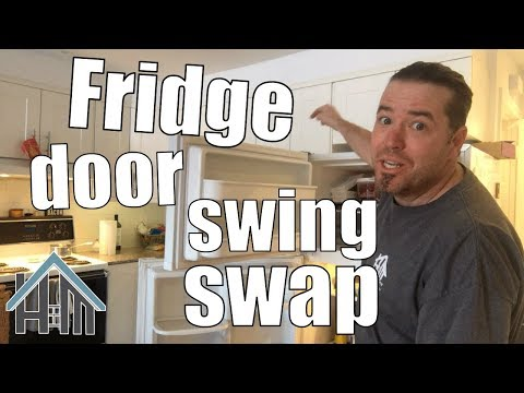 How to reverse fridge door, door swap, reverse swing. Easy!